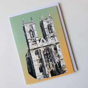 Westminster Abbey, London greeting card with envelope