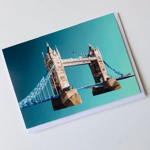 Tower Bridge greeting card with envelope