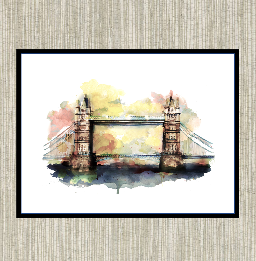 Tower Bridge, London Front View Print
