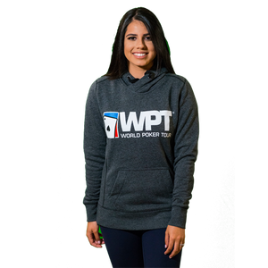 Ladies Terry Pullover Hoodie (Black)