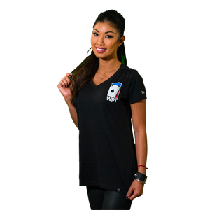 Ladies Weathered V-Neck Tee (Black)