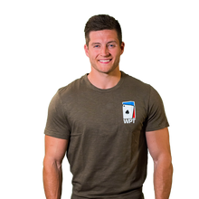 WPT Weathered Tee with Spade Logo (Dark Olive)