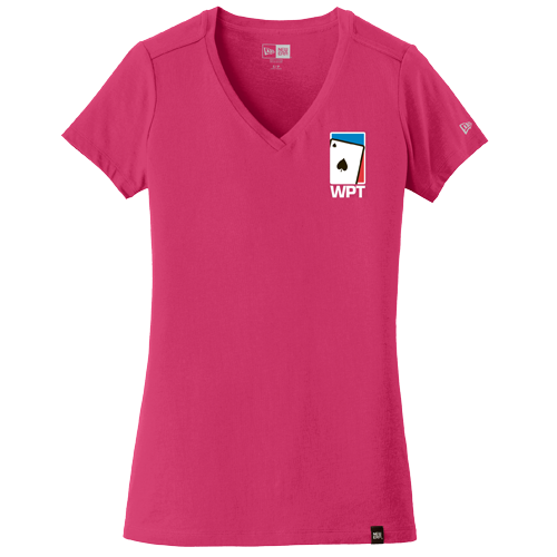 Ladies Weathered V-Neck Tee (Deep Pink)