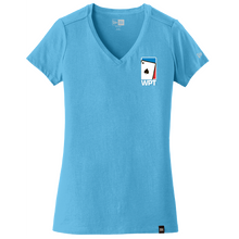 Ladies Weathered V-Neck Tee (Sky Blue)