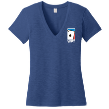 Ladies Weathered So-Low V-Neck Tee (Royal)