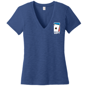 WPT Ladies Weathered So-Low V-Neck Tee