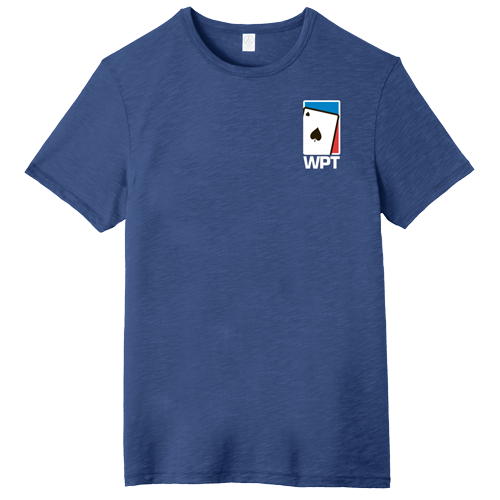 WPT Weathered Tee with Spade Logo (Royal Blue)