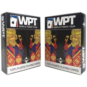 WPT Faded Spade Poker Deck Set (Blue + Red)