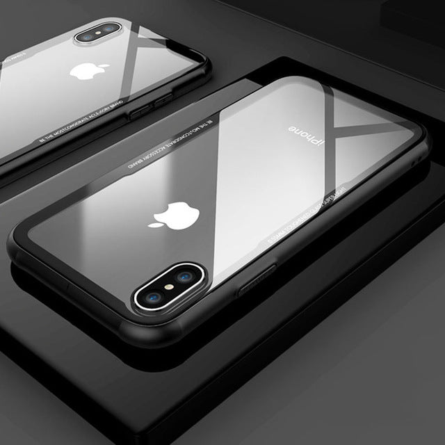 Iphone tempered glass case
