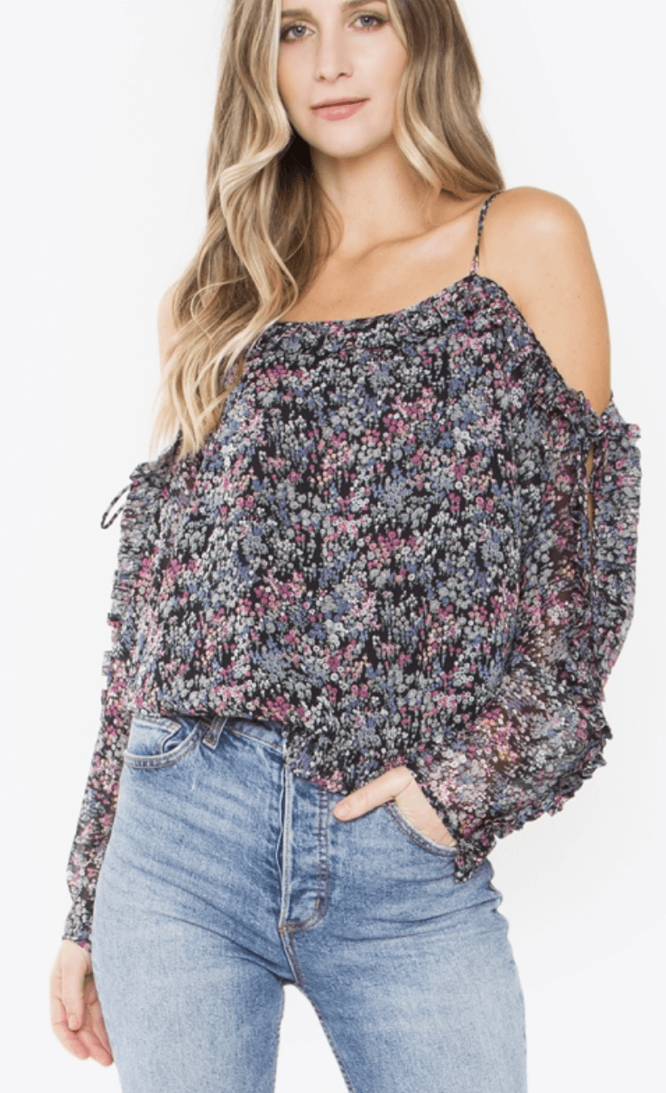 Sugarlips Anastasia Multicolor Floral Ruffle Top - K T Dezigns, Fashion Top, product_vendor]