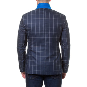 Men's Descartes Check Blazer by MACEOO - K T Dezigns, Men's Blazers, product_vendor]
