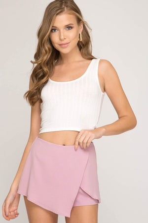 Millennial Pink Mini Wrap Shorts - K T Dezigns, Women's Shorts, product_vendor]