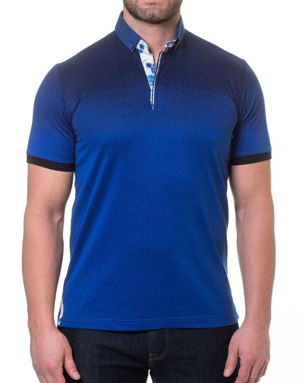 Degrade Navy Men's polo shirt by Maceoo - K T Dezigns, Polo Shirts, product_vendor]
