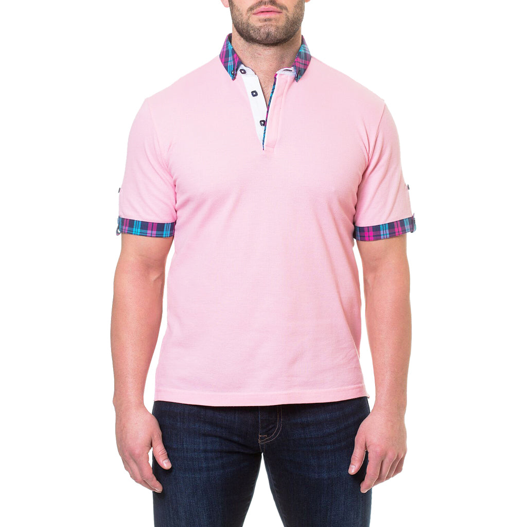 Pique Pink Polo Shirt By Maceoo Kt Dezigns