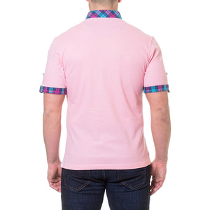 Pique Pink Men's polo shirt by Maceoo - K T Dezigns, Men's Polo Shirts, product_vendor]