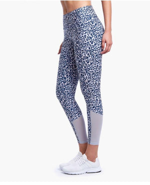 2(X)IST Cheetah Mesh Panel Ankle Legging - K T Dezigns, Women's Leggings, product_vendor]