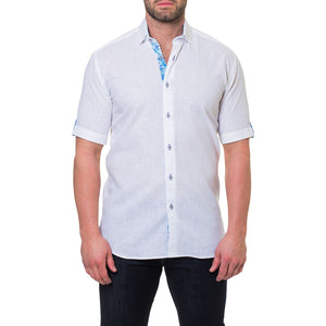 Men's Fresh Powder Linen Short Sleeve Shirt by Maceoo - K T Dezigns, Men's Short Sleeve Sport Shirt, product_vendor]