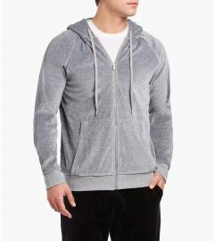2(X)IST Men's Deep Black or Healther Grey Velour Zippered Hoodie - K T Dezigns, Men's Hoodies, product_vendor]