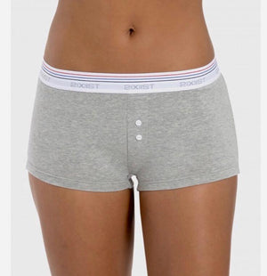 2(X)IST Retro Cotton Grey Boyfriend Shorts - K T Dezigns, Women's Shorts, product_vendor]
