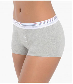 2(X)IST Retro Grey Cotton Boy Short - K T Dezigns, Women's Underwear, product_vendor]