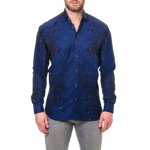 Reaction Blue Men's Long Sleeve Dress Shirt By Maceoo - K T Dezigns, Men's Long Sleeve Sport Shirts, product_vendor]