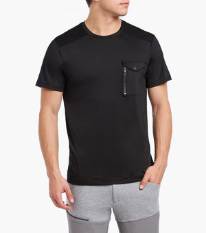 2(X)IST Men's Short Sleeve Mixed Media Moto Tee - K T Dezigns, Men's Tee Shirts, product_vendor]