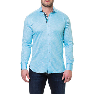 Wall Street Blue Men's long sleeve dress shirt By Maceo - K T Dezigns, Men's Long Sleeve Sport Shirts, product_vendor]
