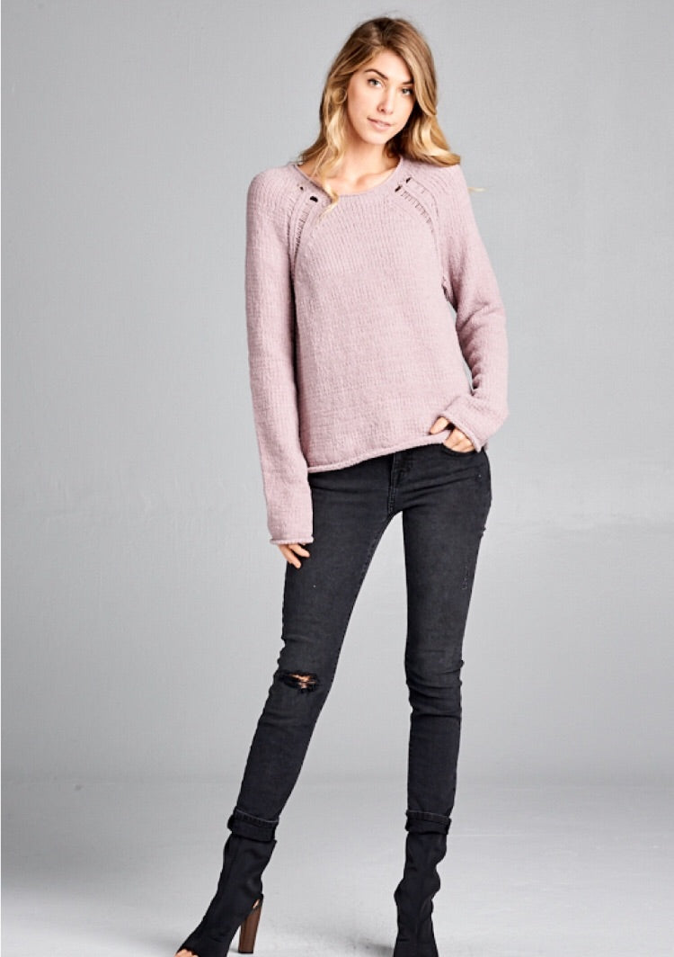 Matte Chenille Sweater