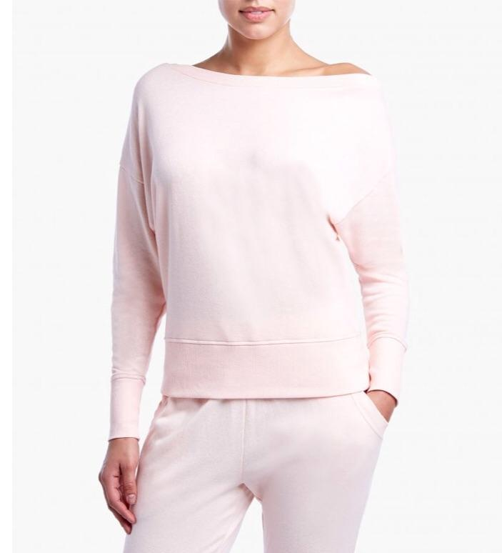 2(X)IST Soft Pink Off The Shoulder Performance Sweatshirt - K T Dezigns, Athleisure, product_vendor]