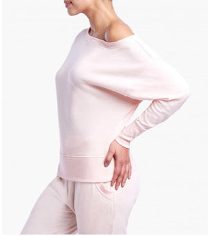 2(X)IST Soft Pink Off The Shoulder Performance Sweatshirt - K T Dezigns, Women's Sweatshirts, product_vendor]