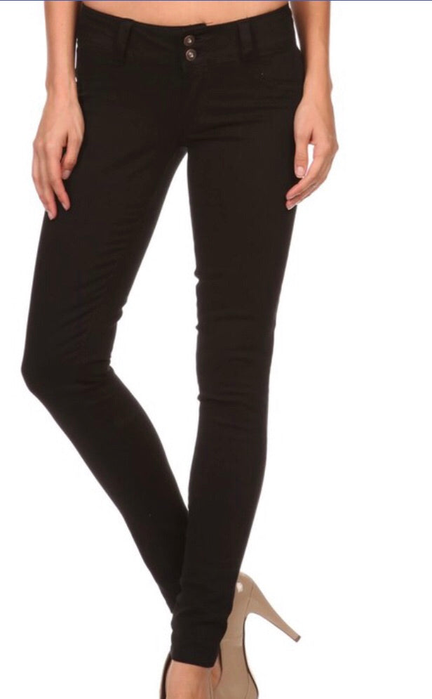 Skinny Black Jeggings