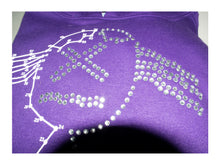 Load image into Gallery viewer, Join the Dots Diamante Hoodie - Purple