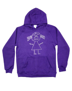 Join the Dots Diamante Hoodie - Purple