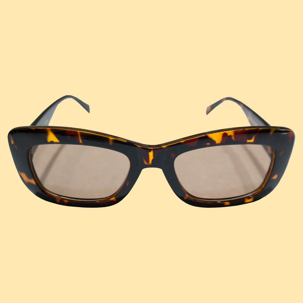 Logo Sunglasses & Case Set - Tortoise Shell