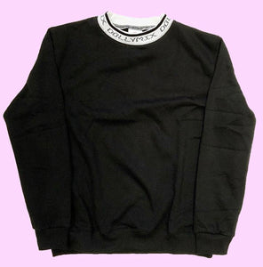 Neck Logo Sweatshirt Black (Soho Exclusive)