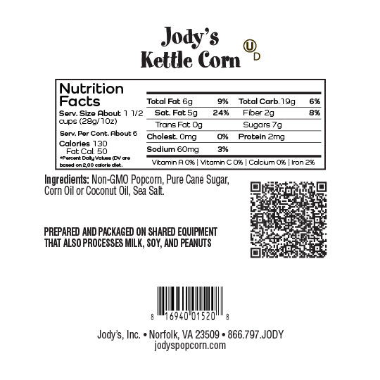 Old-Fashioned Kettle Corn Round Jar - 12 Count