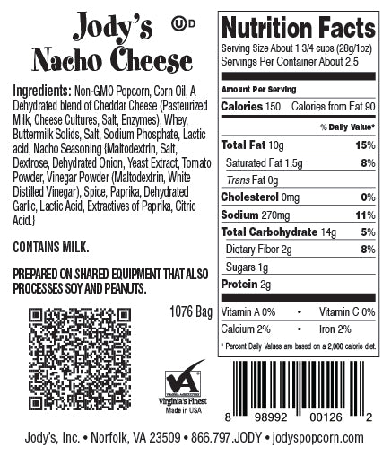 Nacho Cheese Regular Bag - 12 Count
