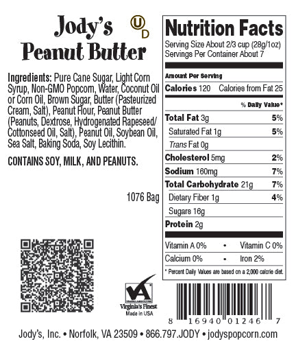 Peanut Butter Regular Bag - 12 Count
