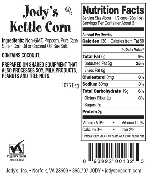 Old-Fashioned Kettle Corn Single Serving Bag - 24 Count