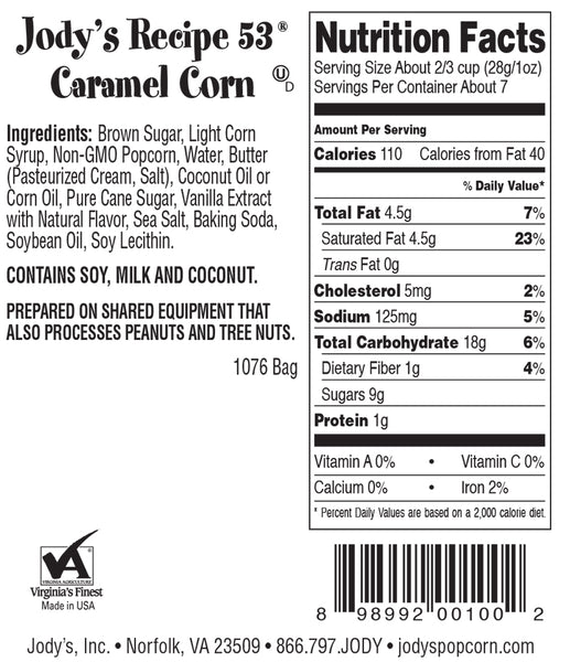 Recipe 53 Caramel Corn Snacking Bag - 24 Count