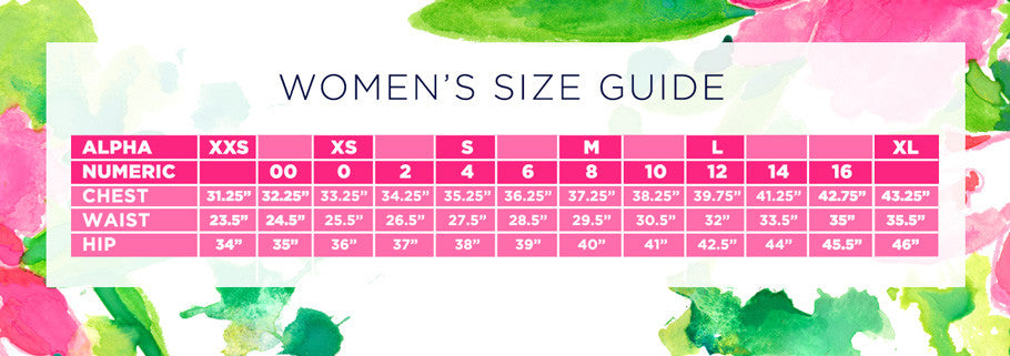 Women's Size Chart - Lilly Pulitzer