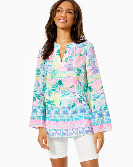 LILLY PULITZER - IDARA TOP REOSRT WHITE