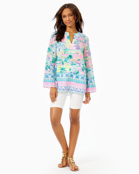 LILLY PULITZER - OVEAN COVE TUNIC MULTI PRIVATE ISLAND