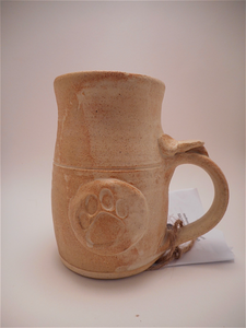 Paw Print Medallion Mug • High Fire • Sand Tones