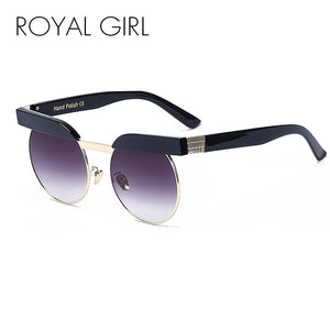 Round Semi-Rimless Women's Sunglasses