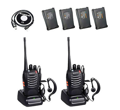 Baofeng Bf-888S Walkie Talkie 5W 2 Way 16 Channel Radio Interphone