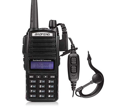 BaoFeng UV-82HP High Power Dual Band Radio 2PPT Headset