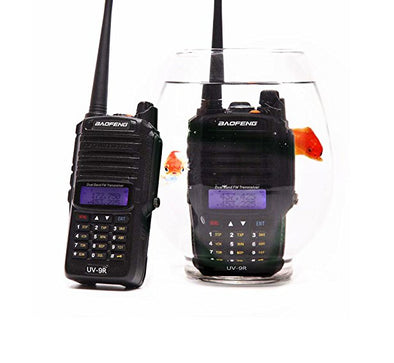UV-9R Handheld Walkie Talkie 8W UHF VHF UV Dual Band IP67 Waterproof Two Way Radio