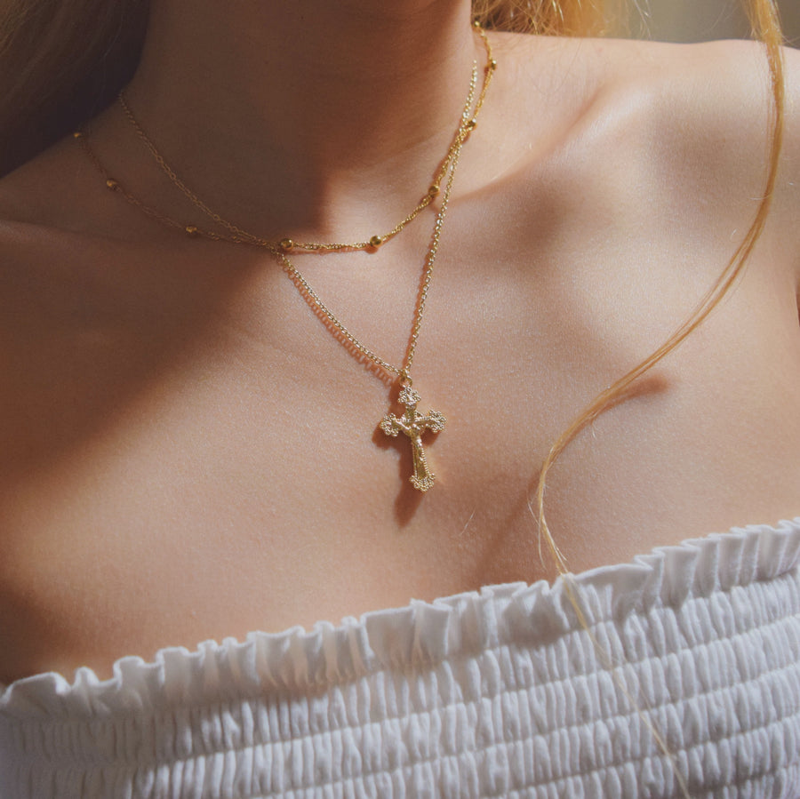 Louise cross necklace