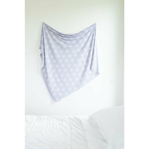 Swaddle Buds- Breathable Stretchy Wraps- Grey Flower